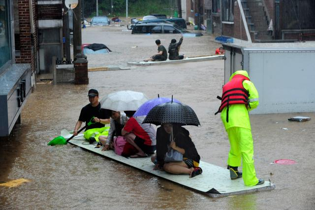 inondations en corée du sud